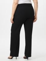 Roz & Ali Plus Secret Agent Tummy Control Pull On Pants - Average Length-Plus - Black - Back