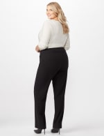 Roz & Ali Secret Agent Tummy Control Pants Cateye Rivet - Tall Length - Plus - Black - Back