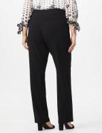 Plus Roz & Ali  Plus Secret Agent Trouser  Pants with Cat Eye Pockets & Zip - Black - Back