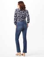 Denim Trousers with Button Pocket Detail - Medium Stone Wash - Back