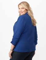 Cinched Sleeve One pocket Notch Collar Topper Plus - Royal - Back