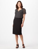 Pull On Ponte Skirt - Black - Front