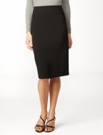 Pull On Ponte Skirt - Black - Detail