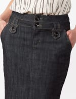 Two Buttoned-Waist Skirt - Rinse Wash - Detail