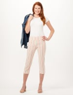 Stripe Pull-On Pants - Porcelain Rose Multi - Front