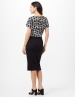 Patch Pocket Ponte Skirt - Black - Back