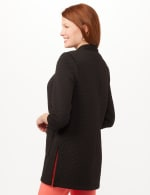 Quilted Jacquard Topper - Black - Back