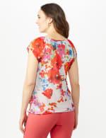 Floral Tier Print Top - Multi - Back