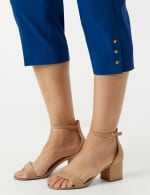 Pull On Crop Pants - Marine Blue - Detail