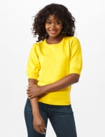 Puff Sleeve Sweater - Sunflower - Front