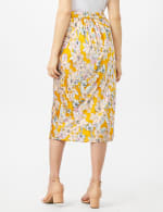 Floral Printed Slip Skirt - Gold - Back