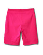 Pull on Shorts with Dome Rivet Trim - Hot Pink - Back