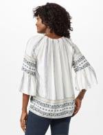 Westport Bell Sleeve Border Tunic - Misses - Ivory - Back