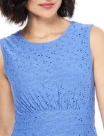 Sleeveless Eyelet Jersey Midi Dress - Cobalt - Detail