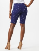 Pull On Shorts with Anchor Pattern - Twilight Blue/White - Back