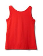 Studded Knit Tank - Red - Back