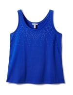 Studded Knit Tank - Plus - Royal Blue - Front