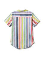 Multi Stripe Texture 1 Pocket Shirt - Misses - Multi - Back