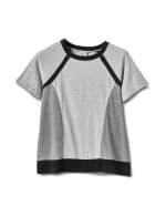 Color Block Knit Top - Grey/Black - Front