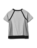 Color Block Knit Top - Grey/Black - Back