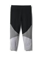 Color Block Knit Capri - Grey/Black - Front