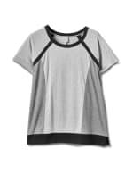 Color Block Knit Top - Plus - Grey/Black - Front