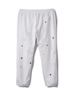 Embroidered Star Knit Pant - Plus - White - Back