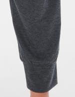 Jogger Knit Pant With Camouflage Trim - Plus - Charcoal - Detail
