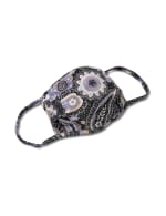 Floral Paisley Fashion Mask - Blue - Front
