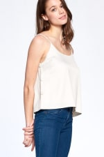 Essential Tank Top - Ecru - Front
