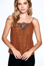 Natural Pattern Essential Tank - Brown - Front