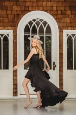 Juliette Dress in Black - Black - Detail