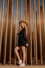 Elsa Wrap Dress - Black - Detail