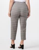 Roz & Ali Yarn Dye Plaid Pull On Waist Ankle Pant - Plus - Black/Grey - Back