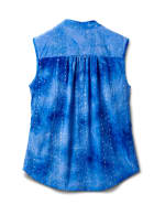 Jaquard Tie Dye Knit Popover-Petite - Dignity Blue - Back