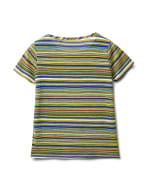 Textured Mixed Direction Stripe - Blue/Green - Back