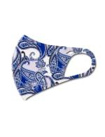 Denim Paisley Anti-Bacterial Fashion Face Mask - Blue - Detail