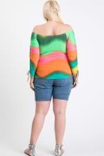 Colorful Vibes Off-Shoulder Top - Multi - Back