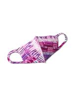 Batik Tie Dye Anti-Bacterial Fashion Face Mask - Purple - Front