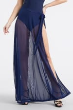 Side Tie Wrap Swimsuit Coverup - Navy - Front