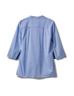 Blue Tile Voile Pintuck Popover - Blue Tile - Back