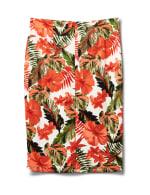 Printed Pull On  Floral Scuba Crepe Skirt - Sugar Swizzle/Spice isle - Back