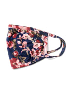 Mauve Floral Bouquet Fashion Mask - Navy/Mauve - Detail