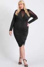 To Wow Glittery Dress - Silver - Front