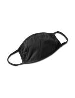 Silver Foil Hearts Fashion Mask - Black - Back
