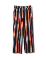 Striped Elastic Waist Soft Pant with Tie Belt - Multi - Back