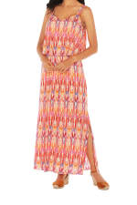 Caribbean Joe® Double Layer Maxi Dress - Bittersweet - Detail