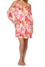 Caribbean Joe® Cold Shoulder Dress - Sundried - Detail