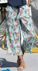 Caribbean Joe® Wide Leg Pant - Blue - Front