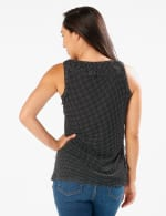 Dot Mesh Tier Knit Top -  - Back